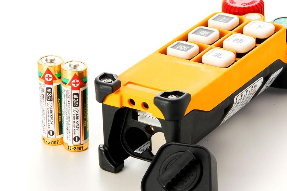充電不要のクレーン無線リモコン|テレクレーン